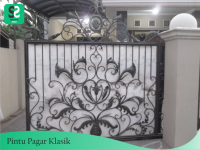 Pintu Pagar Klasik 1 - Bengkel Las Depok