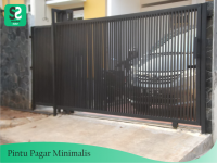 Pintu Pagar Minimalis 1 - Bengkel Las Depok