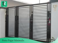 Pintu Pagar Minimalis 11 - Bengkel Las Depok