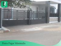 Pintu Pagar Minimalis 12 - Bengkel Las Depok