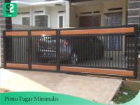 Pintu Pagar Minimalis 2 - Bengkel Las Depok
