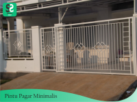 Pintu Pagar Minimalis 3 - Bengkel Las Depok