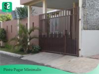 Pintu Pagar Minimalis 4 - Bengkel Las Depok
