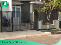Pintu Pagar Minimalis 5 - Bengkel Las Depok