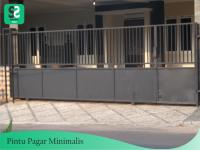 Pintu Pagar Minimalis 6 - Bengkel Las Depok