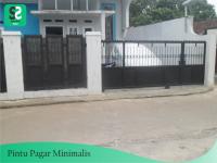 Pintu Pagar Minimalis 7 - Bengkel Las Depok