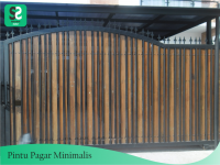 Pintu Pagar Minimalis 8 - Bengkel Las Depok