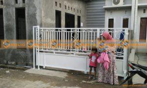 Pintu Pagar Minimalis di Pasir Putih Sawangan Depok